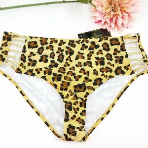 Baby Phat leopard print Bikini Bottom with cut out